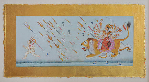 Untitled Page From A Burning Story Book (Durga)