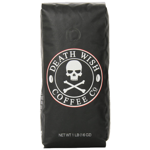 Death Wish Coffee The World's Strongest Coffee Fair Trade Organic Whole Bean 16 Ounce Bag