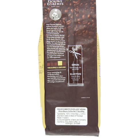 Douwe Egberts Excellent Aroma Whole Beans Coffee 17.6-Ounce Package