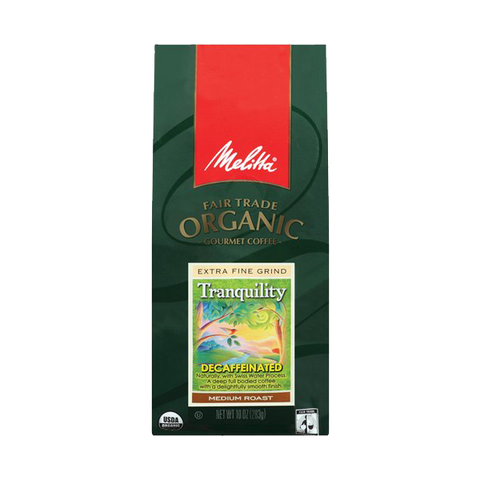 Melitta Fair Trade Organic Coffee Tranquility Decaffeinated Ground Medium Roast 10 ounce