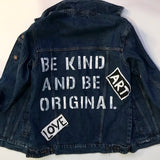 "Riflová bunda ""BE KIND AND BE ORIGINAL"""