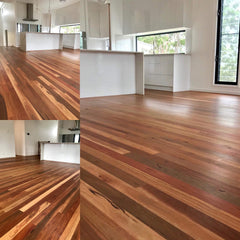 Above : Spotted Gum 80 X 19mm finished with loba Impact oil - natural raw look !