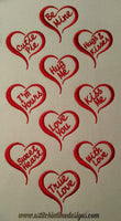 Sweet Heart Designs - Set of 10