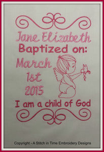 5x7 Baptism Announcement Template