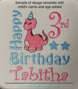 5x7 Dino Birthday Template