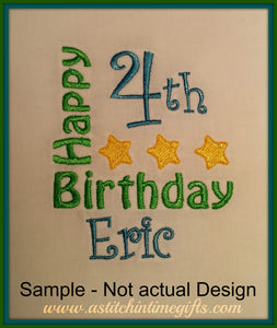 4 x 4 Stars Birthday Template