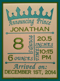 5x7 Prince Birth Announcement Template