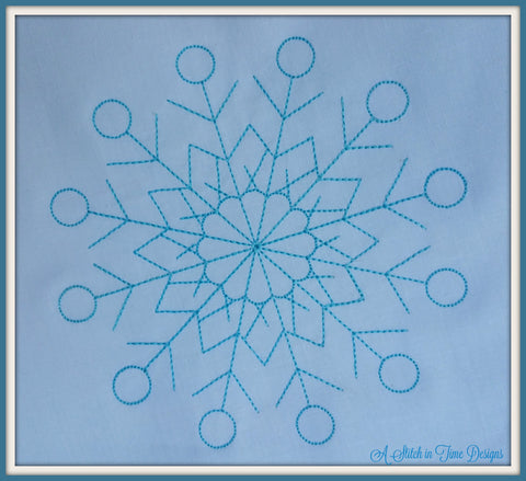 Snowflake Set 1 - Set of 6 sizes - On sale through 11-20-15