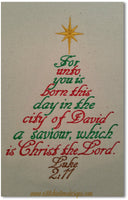 Luke 2:11 Christmas Tree  - fits 5x7 hoops