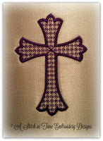 Cross Applique Set of 2