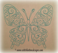 Redwork Butterfly 1