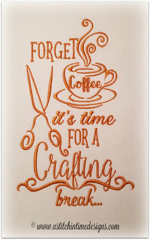 Forget Coffee - Time for a Crafting Break