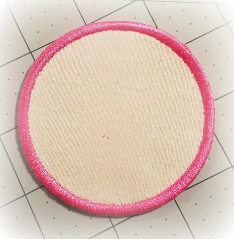 Patch 3 Inch Round - Blank