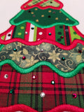 Patchwork Christmas Tree Applique - Fits 6x10 hoops
