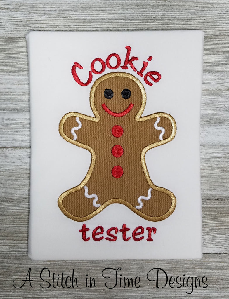 Cookie Tester Applique