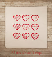 Simply Hearts Set of 9 Heart Designs