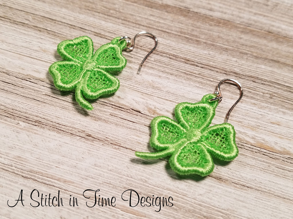 FSL Shamrock Earrings or Charms
