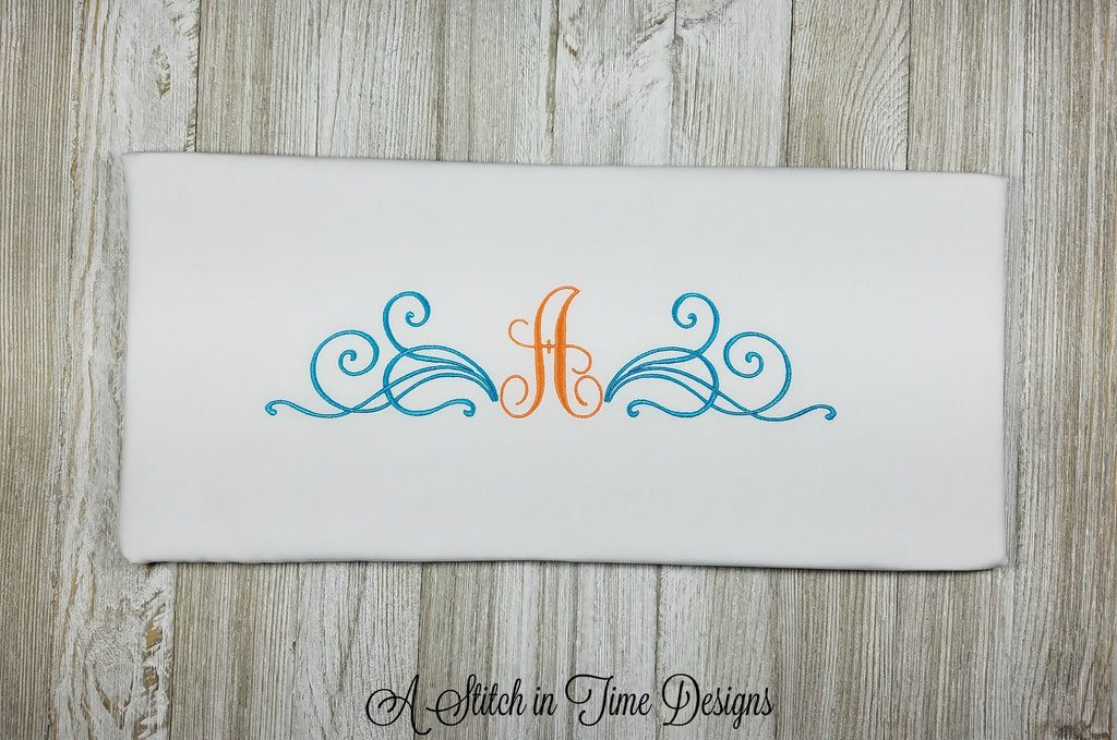 Scroll Monogram Set - fits 6x10 hoops
