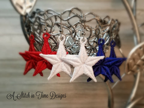 FSL Star Earrings or Charms