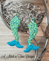 FSL Mermaid Tail Earrings or Charms