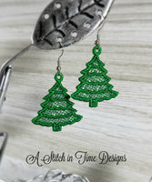 FSL Christmas Tree Earrings