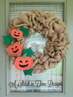 ITH Wreath Decor - Pumpkin 6x10