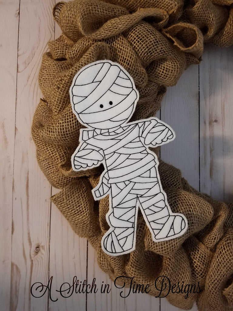 ITH Wreath Decor - Mummy 6x10