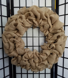 Burlap Wreath Instructions