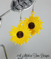 FSL Sunflower Earrings