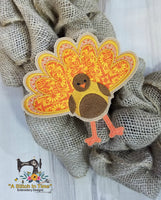 ITH Wreath Decor - Turkey for 5x7 Hoop