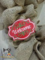 ITH Wreath Decor - Welcome Sign (for 4x4 hoops)