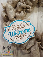 ITH Wreath Decor - Welcome Sign (for 6x10 hoops)