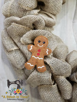 ITH Wreath Decor Gingerbread Man (4x4 Hoops)