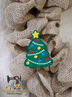 ITH Wreath Decor Christmas Tree (4x4 hoops)