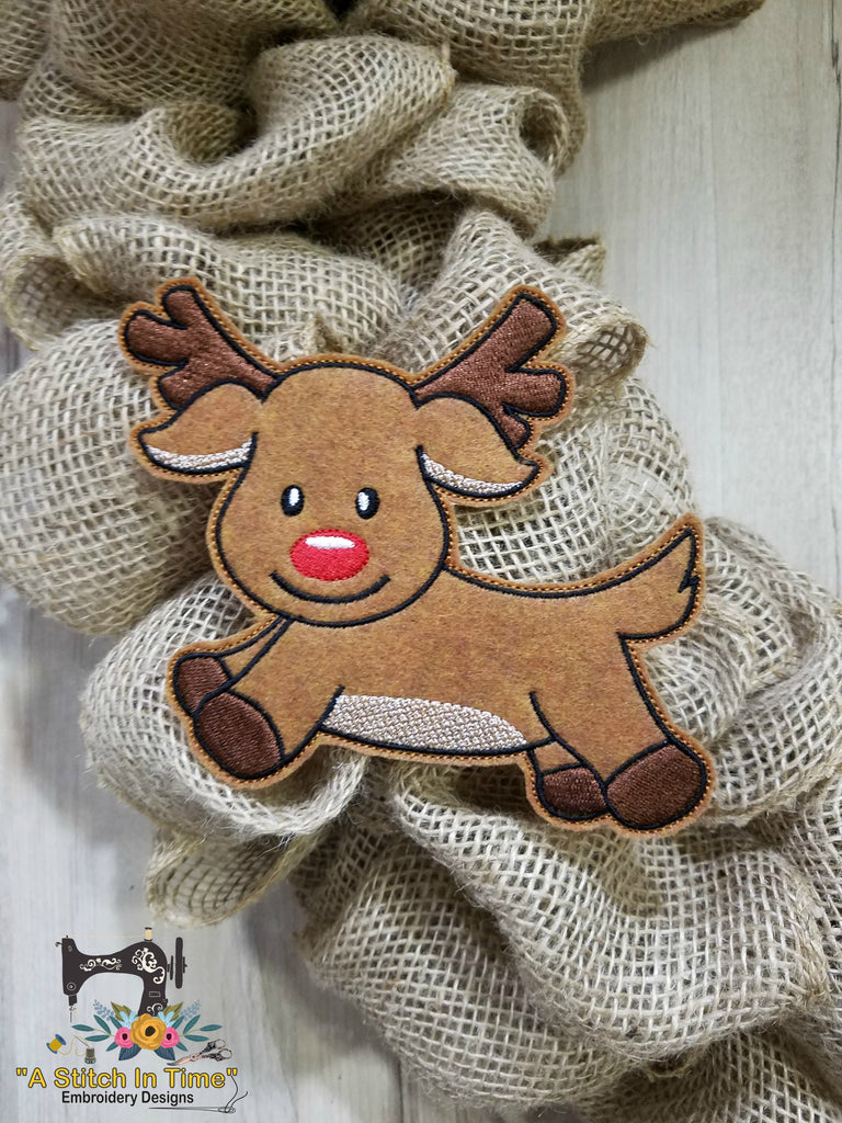ITH Wreath Decor Reindeer 5x7