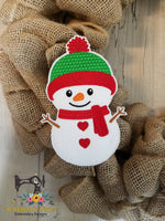 ITH Wreath Decor Snowman (5x7 hoops)