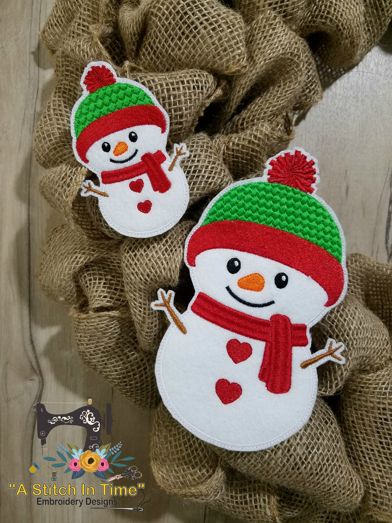 Ith wreath decor snowman 4x4 hoops a stitch in time for Decoration 4x4
