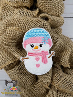 ITH Wreath Decor Snowgirl (4x4 hoop)