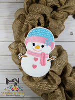 ITH Wreath Decor Snowgirl (5x7 hoops)