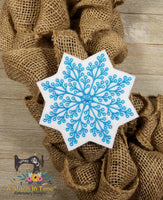 ITH Wreath Decor Snowflake (5x7 hoops)