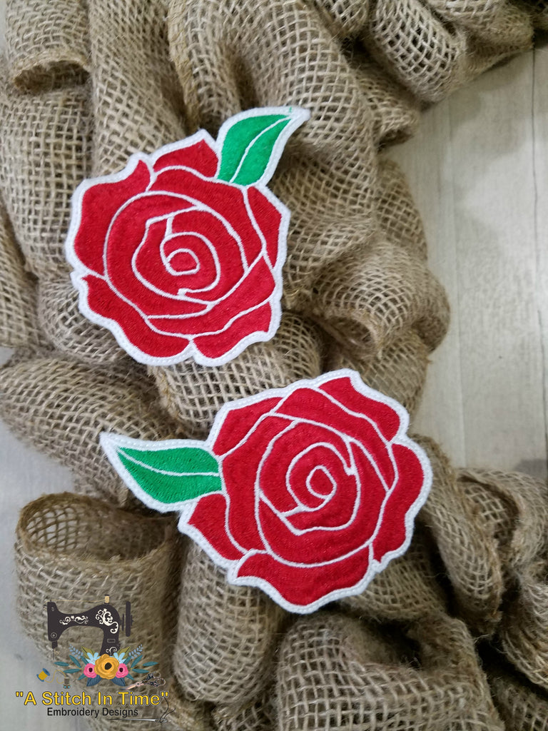 Ith wreath decor rose 4x4 a stitch in time embroidery for Decoration 4x4