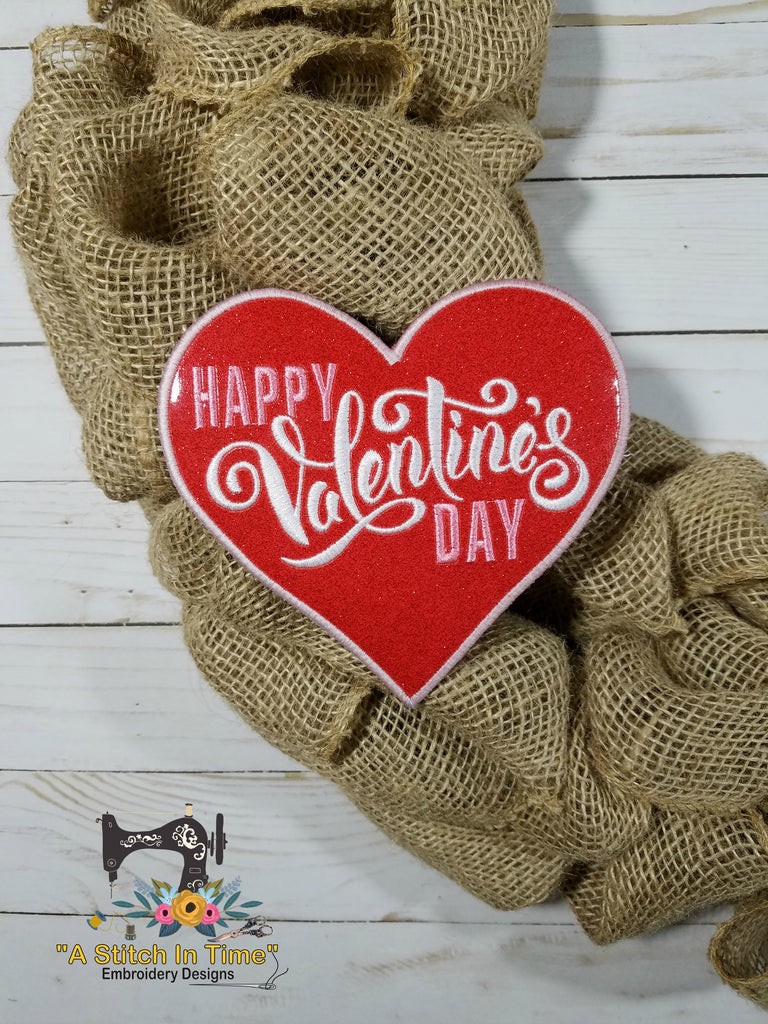 ITH Wreath Decor Valentines Day Heart (6x10 hoops)