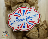 ITH God Bless America 5x7