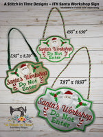 ITH Santa's Workshop Sign (fits most 5x7 hoops)