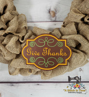 ITH Give Thanks (fits most 5x7 hoops)