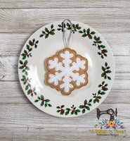 ITH Iced Snowflake Cookie Ornament