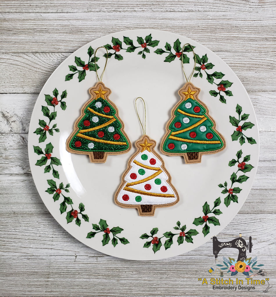 ITH Iced Christmas Tree Cookie Ornament