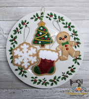 ITH Iced Christmas Stocking Cookie Ornament