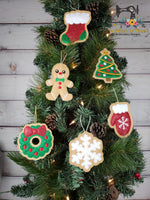 ITH Iced Christmas Mitten Cookie Ornament