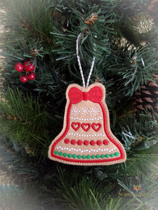 ITH Christmas Cookie Ornament - Bell